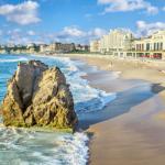 Plage de Biarritz, vue sur Casino