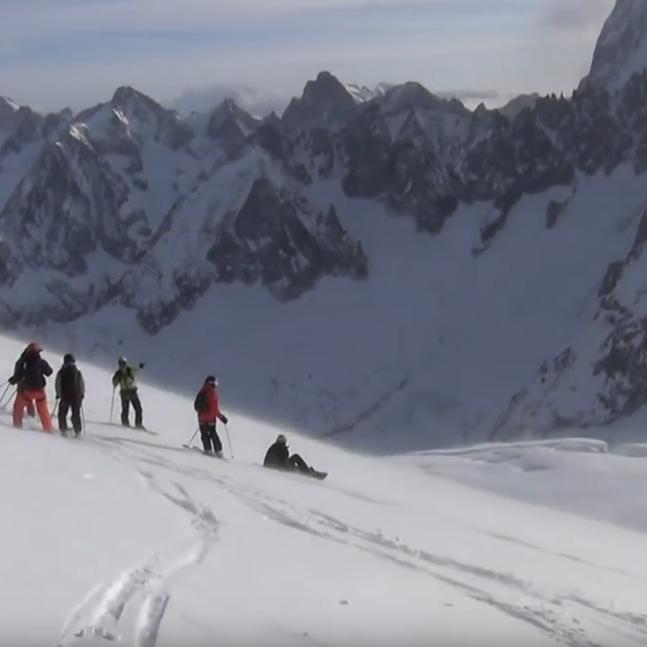 Francés y Esquí o Snowboard fuera de pista