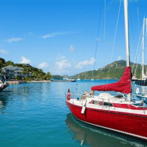 Bateau sur la mer en Martinique