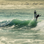 Surfeur à Biarritz