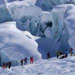 Randonnée à ski près des glaciers