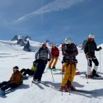 groupe amis ski