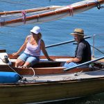 étudiants sur bateau